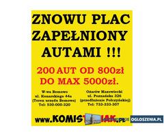 !!! KOMIS TYSIAK !!! NAJWIĘKSZE KOMISY Z TANIMI AUTAMI !!!